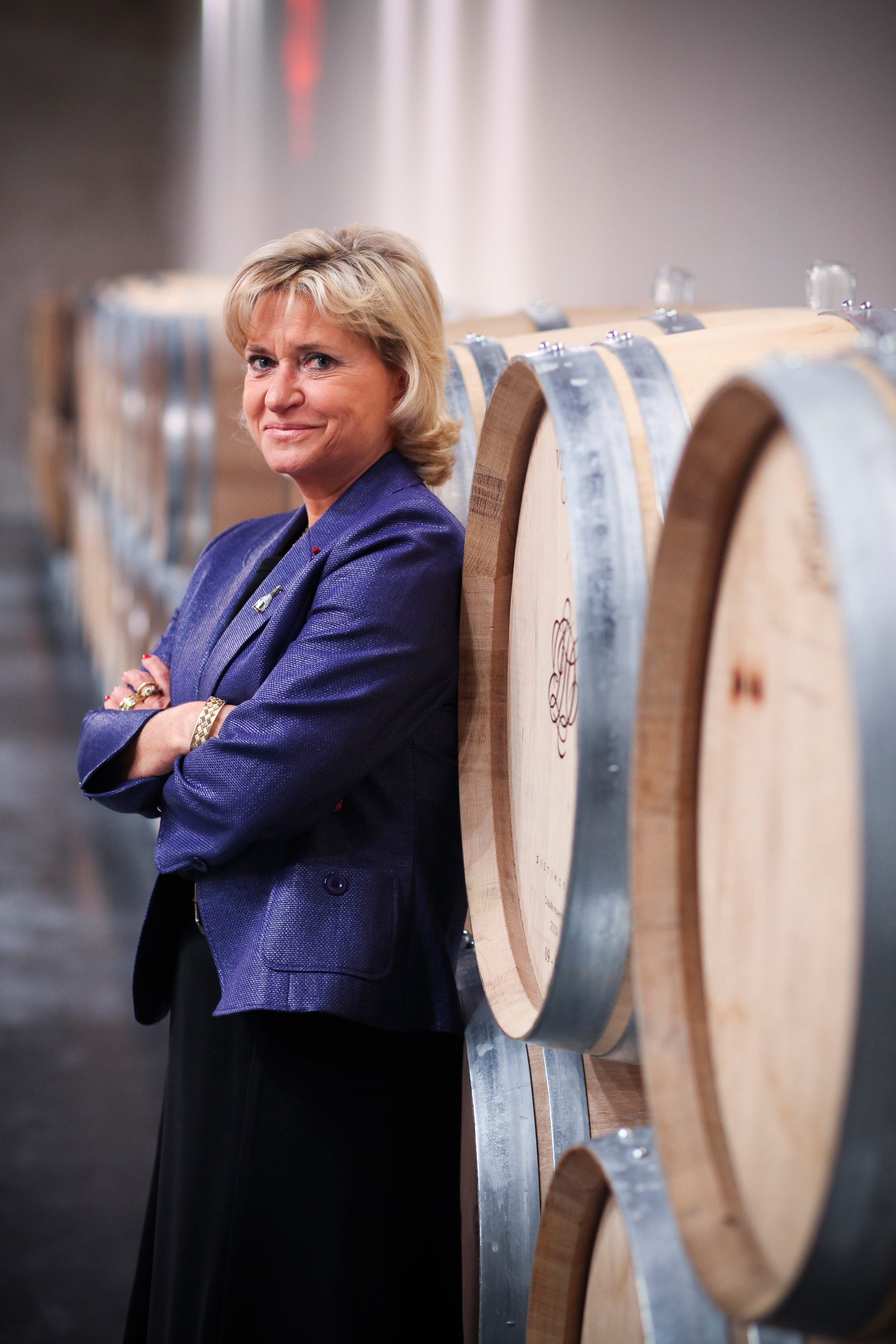 Carol Duval Leroy Barrique cellar